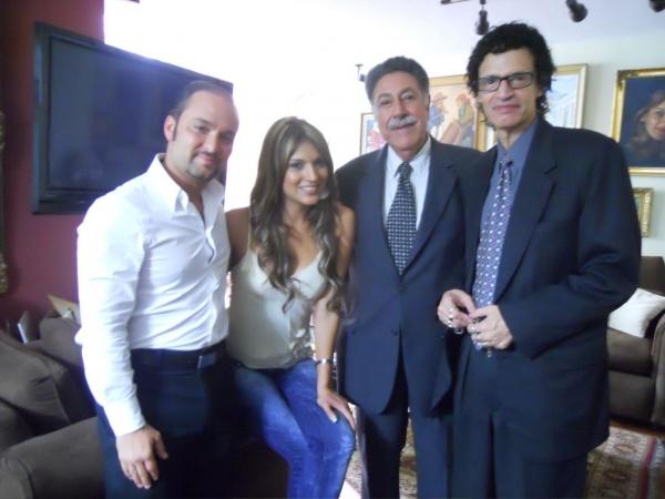 Alejandro Palmieri, Marisol Padilla, Guayo Palomo y Haroldo Sanchez