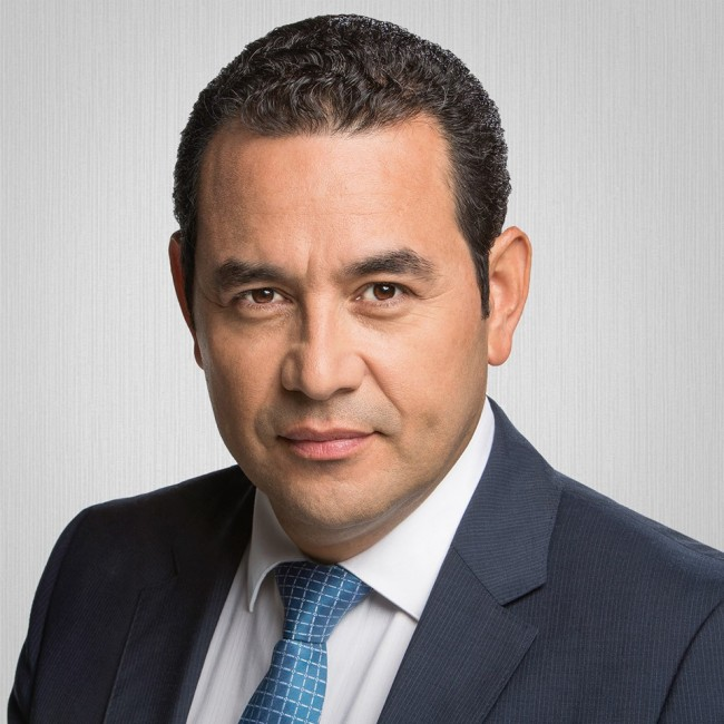 Jimmy Morales Cabrera, Presidente electo de Guatemala