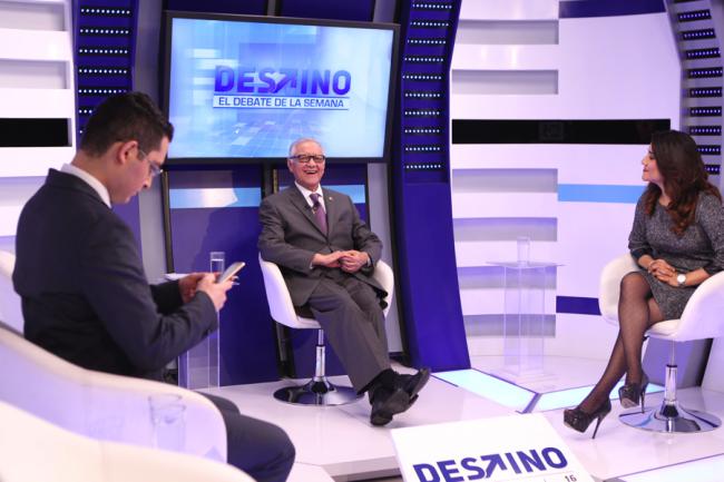 Maldonado Aguirre pareció divertirse mucho durante la entrevista