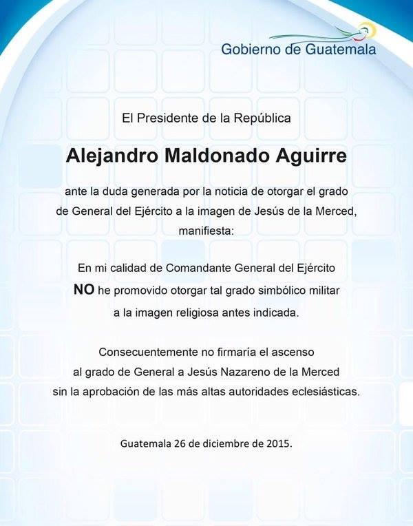 COMUNICADO DE MALDONADO AGUIRRE
