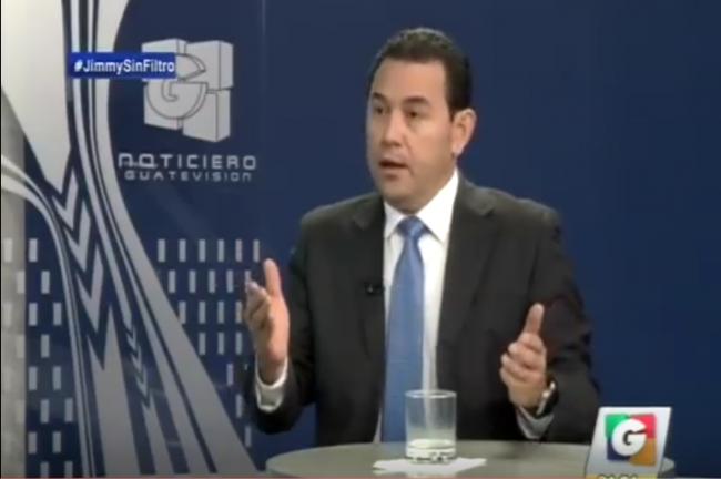 El Presidente electo Jimmy Morales Cabrera