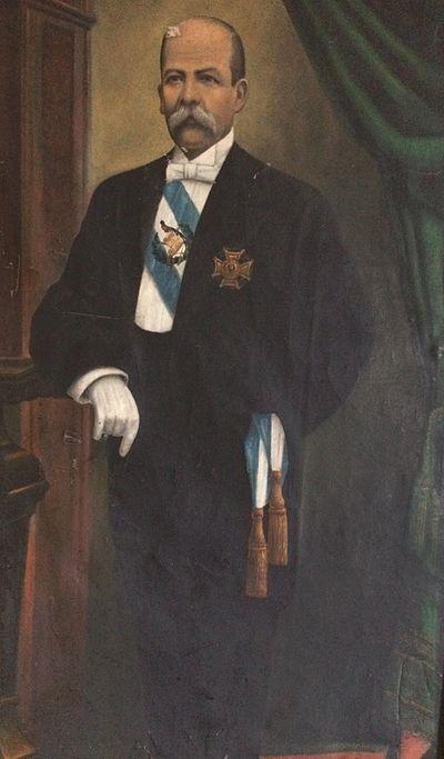 Foto oficial del presidente Manuel Estrada Cabrera en su último período.