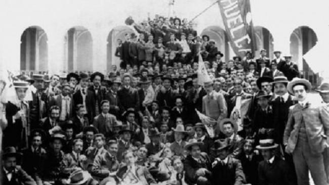 Los participantes en la Huelga de Dolores en 1898