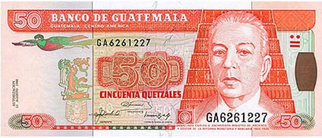 La efigie de Carlos Zachrisson en los billetes de Q50